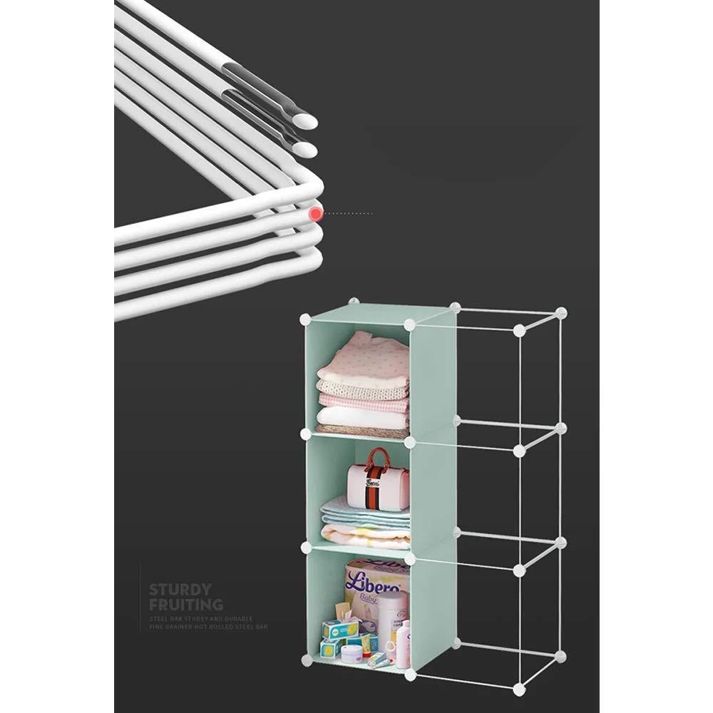 SCJ Guardarropa Armario Simple Piso Dormitorio Colgador Hogar Almacenamiento de pl/ástico Armario Abierto Color: Natural, Tama/ño: 3A