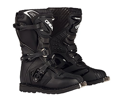 - O'Neal 0324-104 Youth Rider Boots (Black, Size 4)