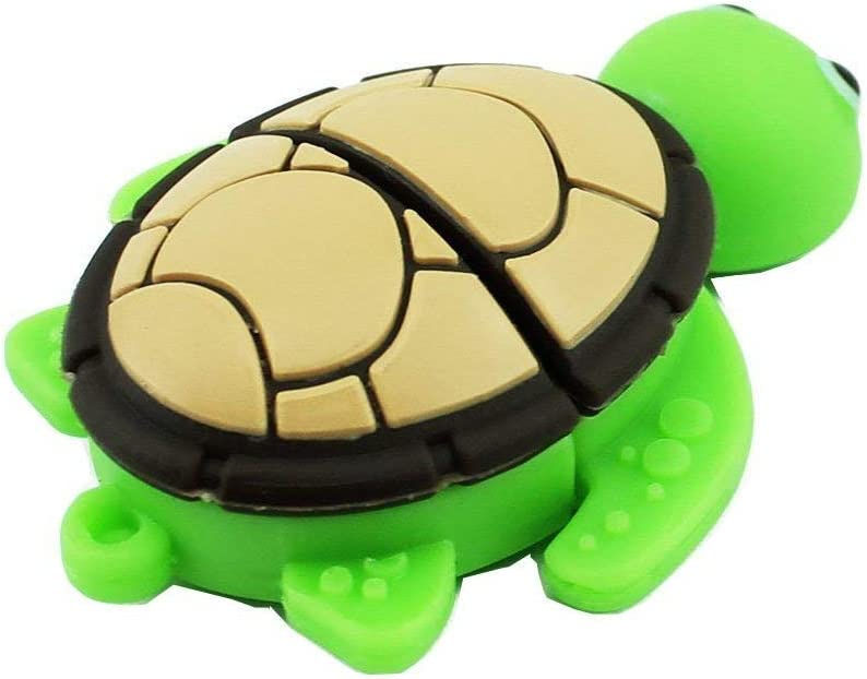 tortoise-16GB Novelty Tortoise Shape Design 16GB USB 2.0 Flash Drive Cute Memory Stick Sea Turtle Thumb Drive Data Storage Pendrive Cartoon Jump Drive Gift