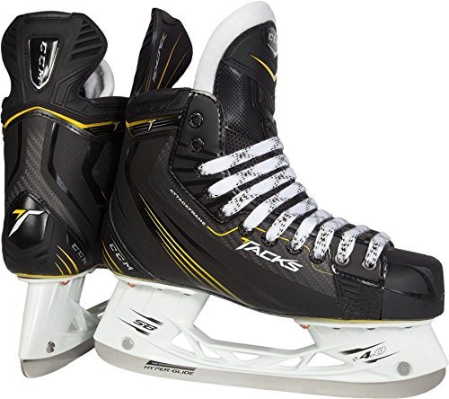 New CCM TACKS 5052 SKJ60 Junior 5.5 D Black/Yellow Ice Hockey Skates Youth - Tack Ice Hockey Skates