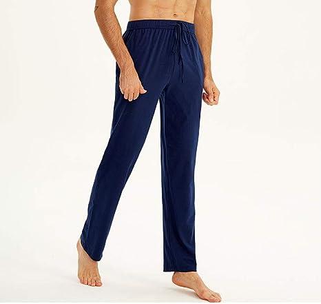 Pantalones De Pijama para Hombre Pantalones De AlgodóN Pantalones De Casa Sueltos Pijamas De Color SóLido: Amazon.es: Deportes y aire libre