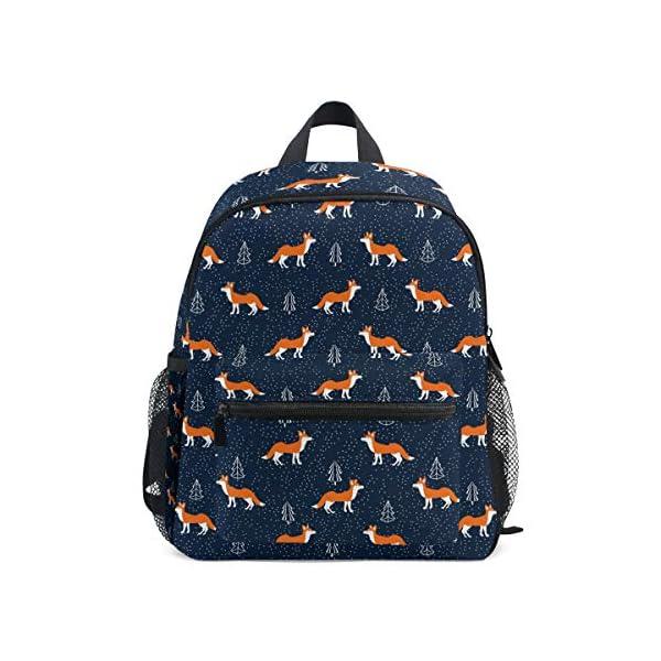 Foxes - Zaino da scuola per bambini e ragazze per bambini, 3 – 8 anni, colore: Blu 1 spesavip