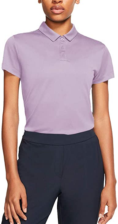 Nike Womens Dry Golf Polo, Morado (Morado 543), Medium (Tamaño ...