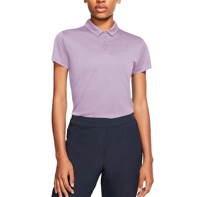 Nike Womens Dry Golf Polo, Morado (Morado 543), Medium (Tamaño ...