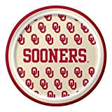 Pack of 96 NCAA Oklahoma Sooners Round Tailgate Party Paper Plates 7''
