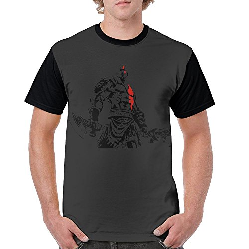 Yfai M God Of War Kratos Mens Short Sleeves Blouse Tops