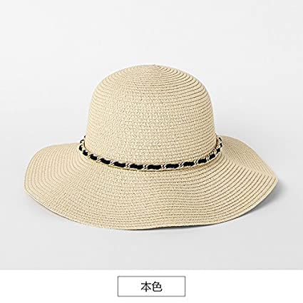 ff6170de49319 ZHANGYONG Sombrero de Paja Chica Inglesa Sombrero Stetson Retro NIÑOS  Verano Visera Plegable Playa Cap
