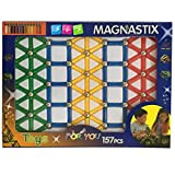 Magnetic Stick With Small Beads Boys Magnetsticks Kids Magnet Building Blocks Mahnet Educatuonal Toy Gift Set , Colors May Vary, 157 Piece