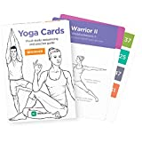 YOGA CARDS by WorkoutLabs: Premium Visual Practice Guide with Essential Poses, Breathing Exercises and Meditation - #1 Bestselling Illustrated Plastic Flash Cards Deck for All Ages & Experience Levels É