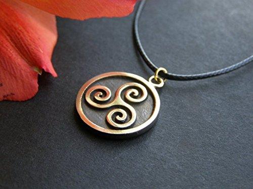 Amazon celtic triskelion triskele spiral of life pendant handmade celtic triskelion triskele spiral of life pendant aloadofball Image collections