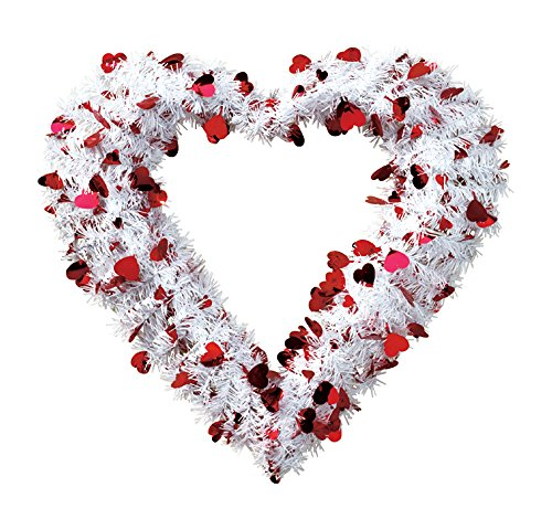 14in Red Heart Wreath (Charm Heart Wreath)