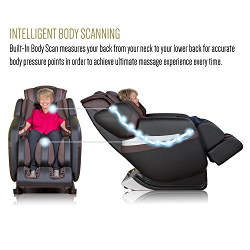 RELAXONCHAIR [MK-CLASSIC] Full Body Zero Gravity Shiatsu Massage Chair with Built-In Heat and Air Massage System (BROWN)