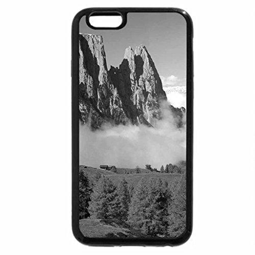 iPhone 6S Plus Case, iPhone 6 Plus Case (Black & White) - Misty Autumn Valley