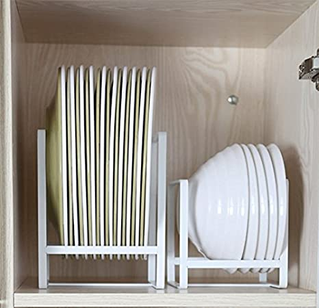 Amazon Com Plate Holders Organizer Upright Metal Dish Storage Dying Rack For Kitchen Counter Cabinet Cupboard Camper White Kitchen Dining This rack makes them that utensil drawer insert. plate holders organizer upright metal dish storage dying rack for kitchen counter cabinet cupboard camper white