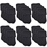 Allure Maek 48pcs Knitting Wool Furniture Socks/ Chair Leg Floor Protector (Black)