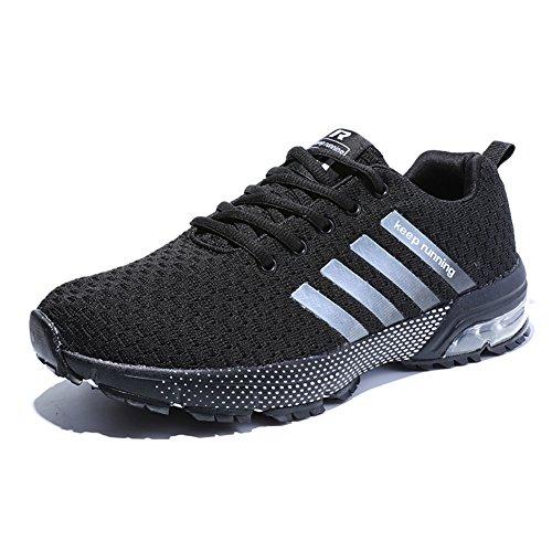 Sneakers Atmungsaktiv Pures Laufschuhe Damen Herren Fitness Trainers Running Turnschuhe Schwarz Sportschuhe HMIYA BRqxwaCx