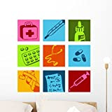 Wallmonkeys Medical Picto Wall Decal Peel and Stick Graphic WM266476 (24 in H x 24 in W)