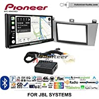 Volunteer Audio Pioneer AVIC-W8400NEX Double Din Radio Install Kit with Navigation, Apple CarPlay and Android Auto Fits 2004-2008 Toyota Solara with Amplified System (Silver)