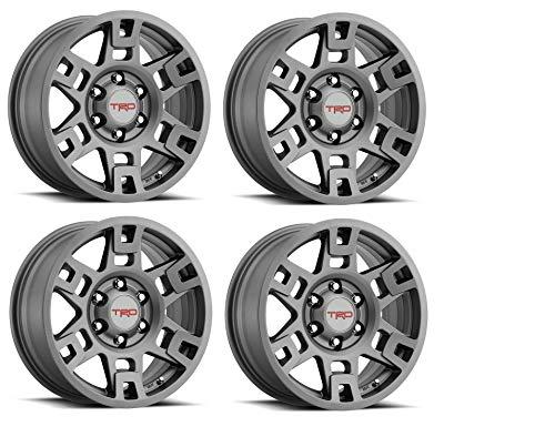 Genuine Toyota 4Runner TRD PRO Matte Gray Wheels PTR20-35110-GR (Fits: 4Runner - Tacoma - FJ Cruiser) (4) ()