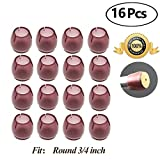 Chair Leg caps Wood Floor Protectors with Felt Furniture Pads, Chair Feet Glides Furniture Carpet Saver, Silicone/Rubber Caps Tips,Fit Round 3/4 inch 16 Pack