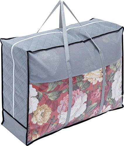 1Storage Charcoal Fiber Duvet Blanket Organizer Bag, Carry Handles, Breathable Material, Grey 902-13 (Fiber Charcoal)