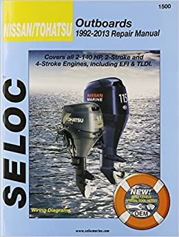 nissan tohatsu outboards repair manual all stroke  nissan tohatsu outboards 1992 13 repair manual all 2 stroke 4 stroke models