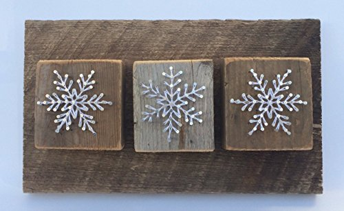 Snowflake trio - A unique rustic Christmas gifts and decor. Also a popular gift for winter Weddings anniversaries,
