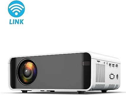Proyector Mini proyector de 8000 lúmenes Admite 1080P Full HD ...