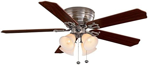 Hampton Bay Carriage House 52 In. Indoor Brushed Nickel Ceiling Fan