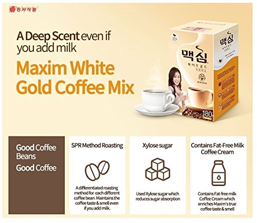 Amazon.com : Maxim White Gold Instant Coffee - 100pks : Coffee Substitutes  : Grocery & Gourmet Food