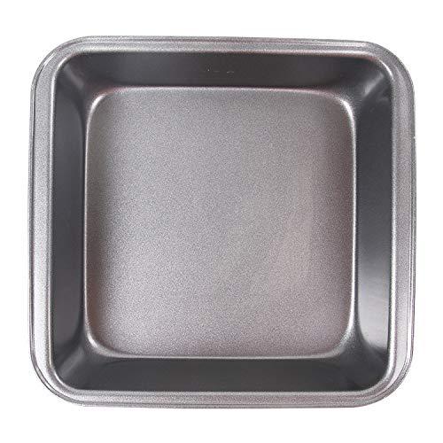 1 piece Diy Nonstick Carbon Steel Square Deepen Cake Pan Pizza Plate Baking Pan ()