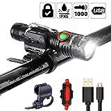 Best lights for bikes - 1000 Lumen Bike Light USB Rechargeable Stepless dimming Review