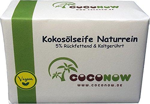 Kokosölseife Naturrein - kaltgerührt, 5% rückfettend