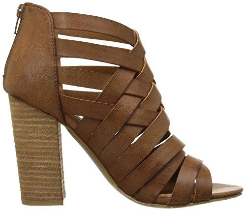 Dolce Av Mojo Moxy Womens Dakota Kjole Sandal Cognac