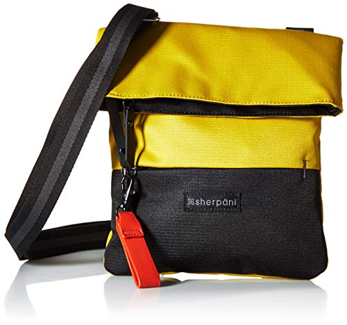 Ballistic Nylon Mini Messenger Bag - Sherpani Women's RFID Pica Mini Crossbody Bag Cross Body, Saffron, One Size