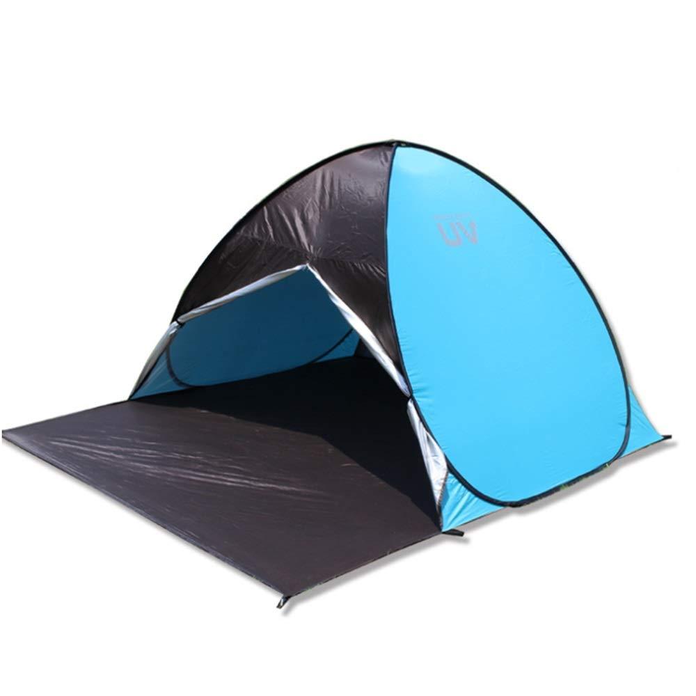 ビーチテント ポップアップビーチテント3-4人家族の紫外線保護大型サンシェードポータブルサンシェルターキャンプの釣りのための自動インスタントキャノピーテントハイキングピクニック屋外キャノピーキャリーバッグ付きキャノピーテントキャナバテント ワンタツチ簡易テント (色 : 青, サイズ : 220*160*130cm) 220*160*130cm 青 B07PGMGM4H