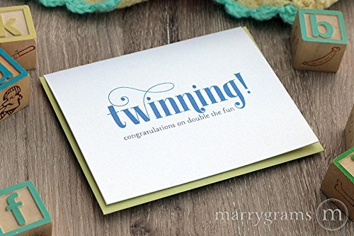 Amazoncom Twinning New Baby Expecting Twins Baby Shower Greeting