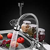 INCHANT Luxury Pull down Flexible Kitchen Single Lever Sink Faucet Single hole Chrome Mixer Tap with Flexible 360 degree Swivel Spout, Dual Modes Sprayer