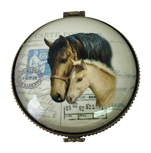 l Trinket Box, Ceramic Glass, 2.5 inches Diameter (Dressage Box)