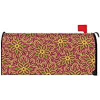 Toland Home Garden Fuchsia Colorful Spring Flower Collage Magnetic Mailbox Cover