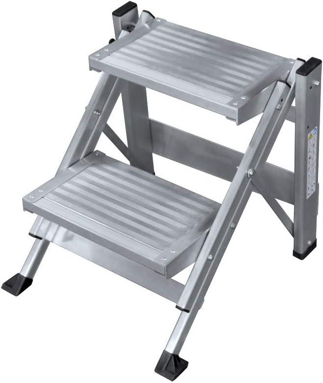 KTL Taburete-Escalera Industrial de Aluminio Plegable 2 peldaños sin barandilla Serie k-Fold: Amazon.es: Hogar