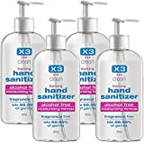 X3 Clean Hand Sanitizer, 8.5-Ounces Bottles (Packaging may vary)