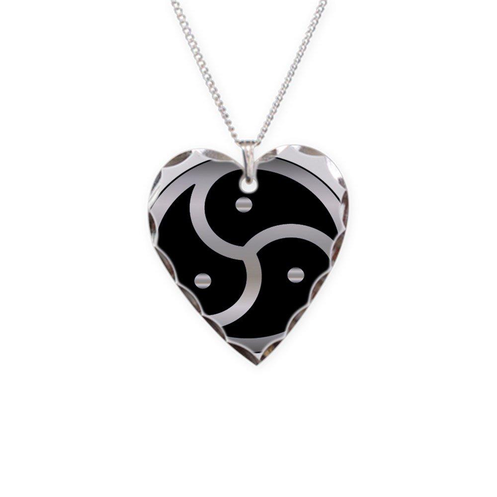 03cdc17c8c057 CafePress - BDSM Symbol Femdom - Charm Necklace with Heart Pendant
