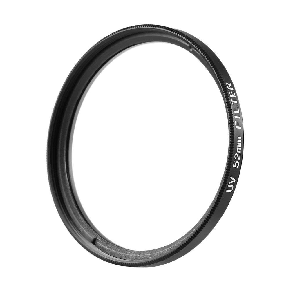 52mm Haze UV Filtro Lente 52 mm Lente Protector para DSLR/SLR / DC/DV Lente de la cá mara (Color: Negro y Transparente) FairytaleMM