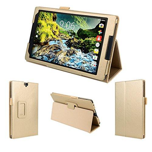 wisers 2016 Verizon Ellipsis 8 HD QTASUN1 QTASUN1B 8-inch Tablet case/Cover, Gold