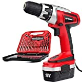 Hi-Spec 18 V Pro Combo Cordless Drill Driver with 1000 mAh Ni-MH Battery, 17 Position Keyless...