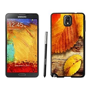 Personalized Phone Case Yellow Autumn Leaves Close Up Wood Texture Galaxy Note 3 Wallpaper