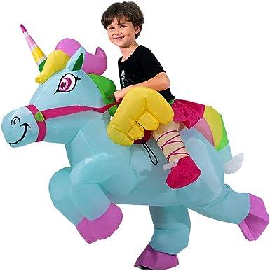 HORYEE Inflatable Unicorn Costume for Kids Boys Girls Inflatable Ride on Unicorn Costume
