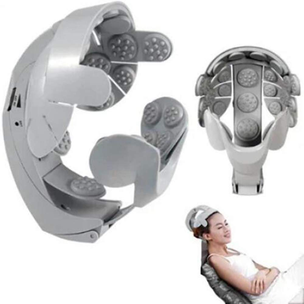 GQHZXCV Electric Head Massager, Brain Massage Relax Helmet/Eye Massage/Neck Massage, to Help The Brain Relax by GQHZXCV