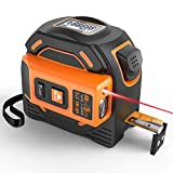 Laser Tape Measure 2 in 1 Digital Measuring Tape Measure LCD Movable Magnetic Hook and Self-Calibration Mode Measuring Tools Can Be Used for Your Measurements (5M, 40M / 60M),40M